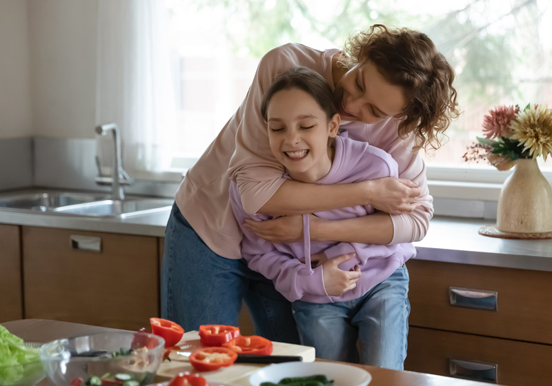 Mother and Child understanding Eating Disorders