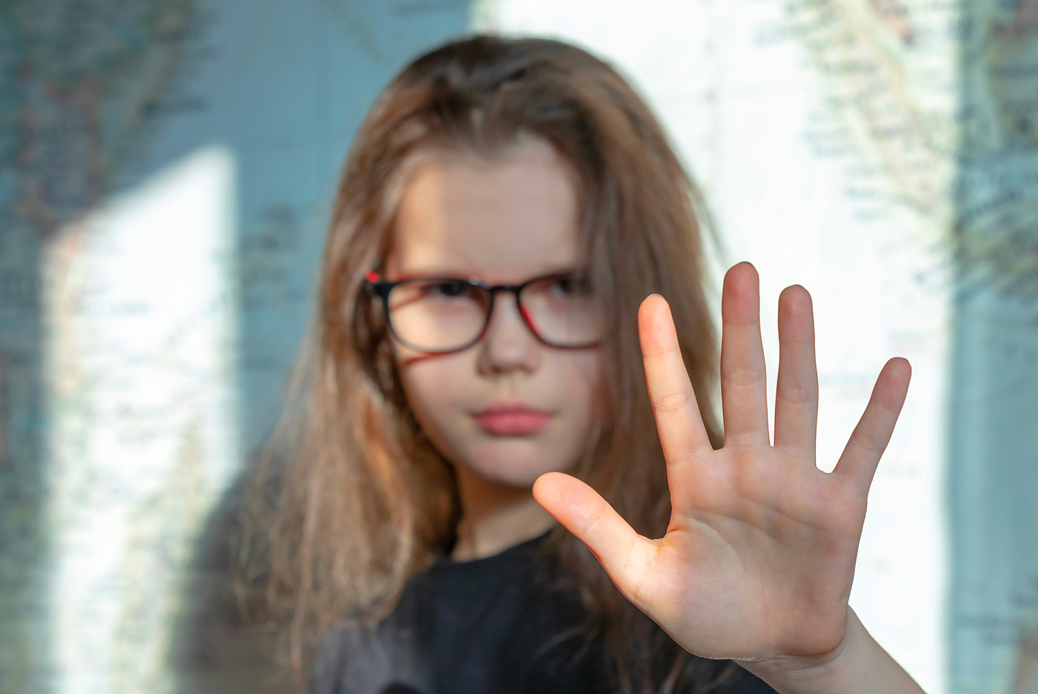 Young girl with eating disorder